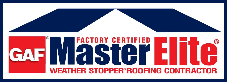 GAF Master Elite roofing contractor Certification badge