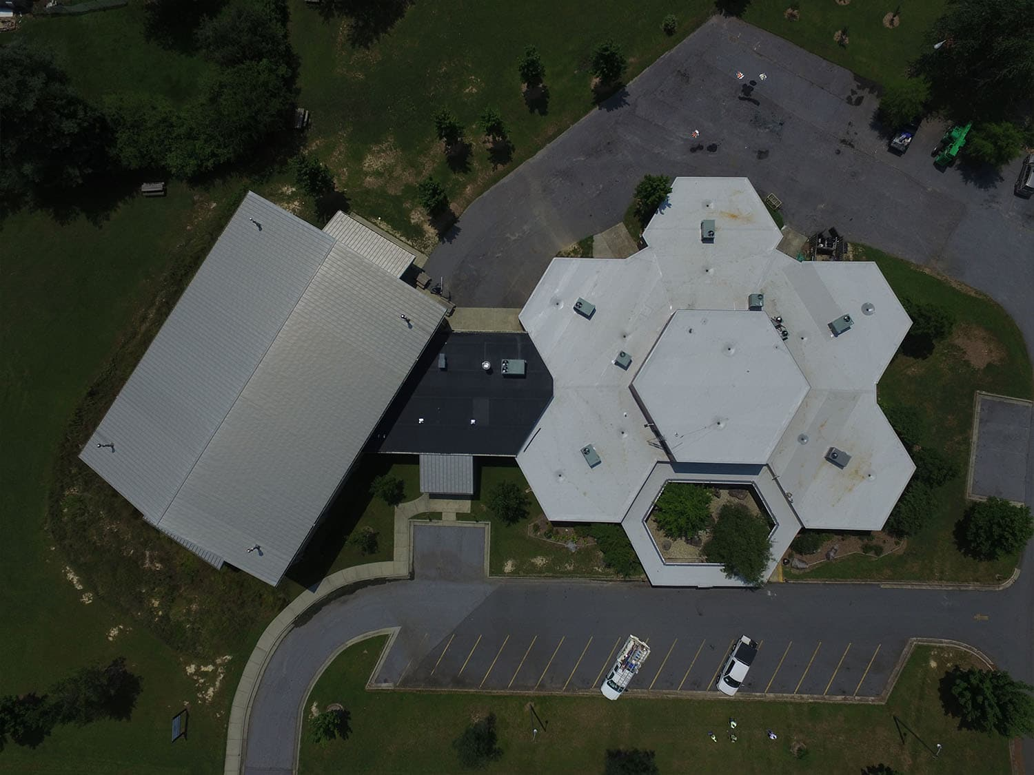 PVC commercial roof replacement, Brevard NC