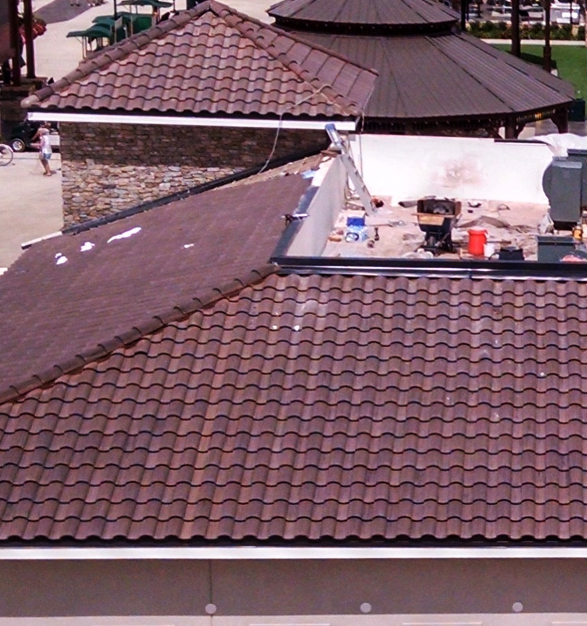 Steep slope roof with clay tile