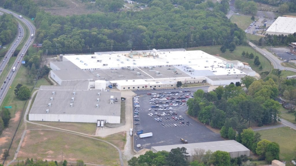 Commercial Single Ply Roof installed on Tietex in Spartanburg, SC by commercial roofer Benton Roofing
