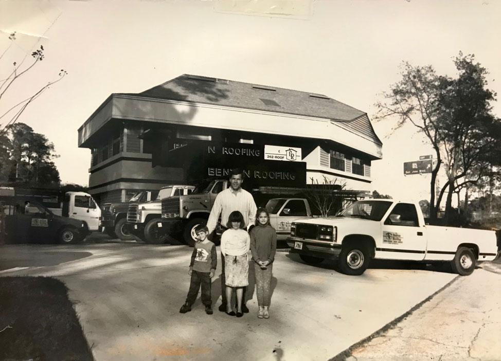 Old photo of Benton family